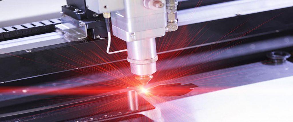 Laser Cutting process - lightning laser